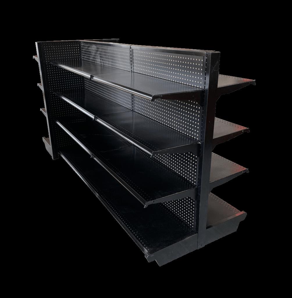 Black Gondola Shelving Unit