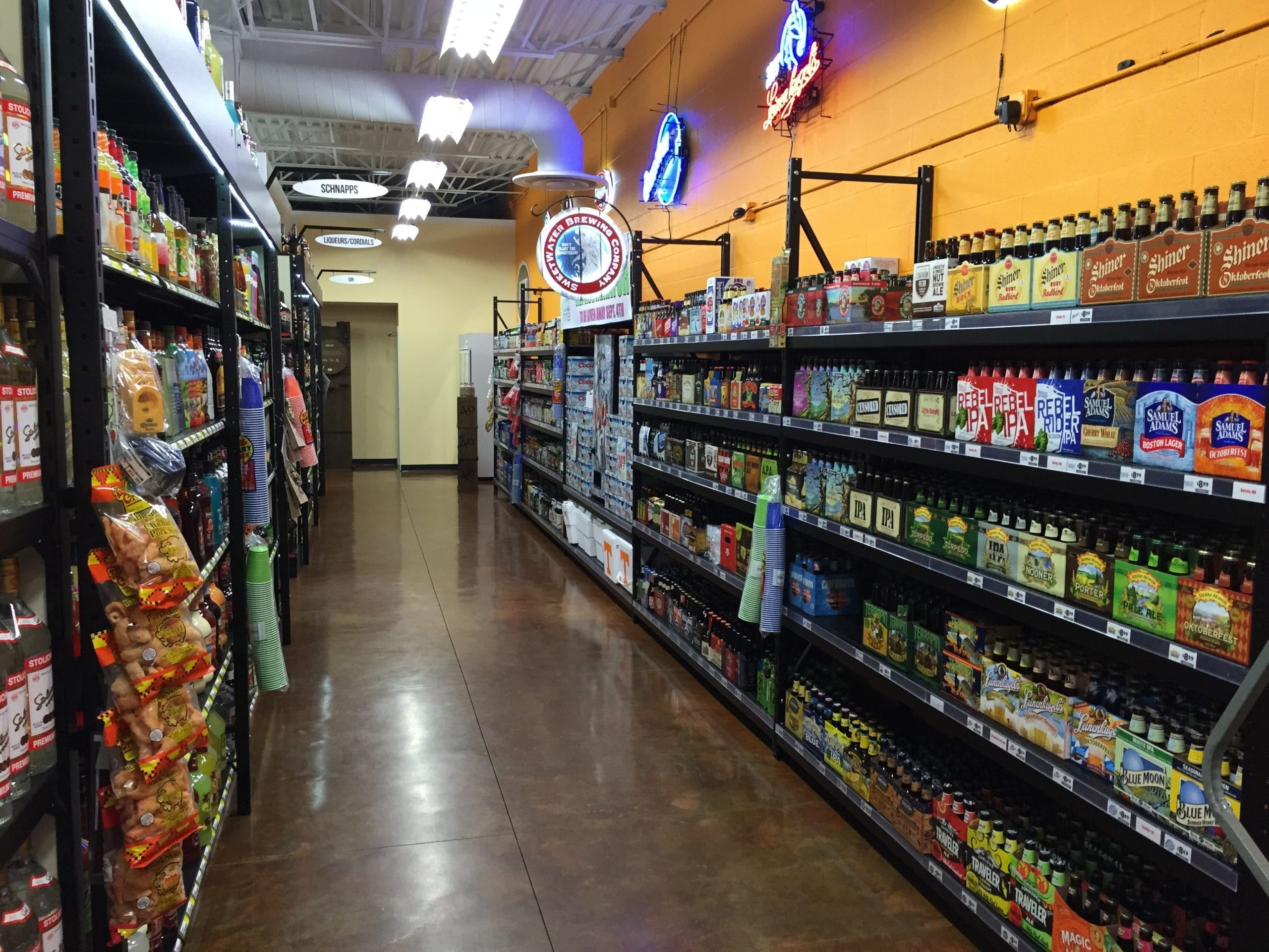 Clearspan Shelving for Liquor Stores