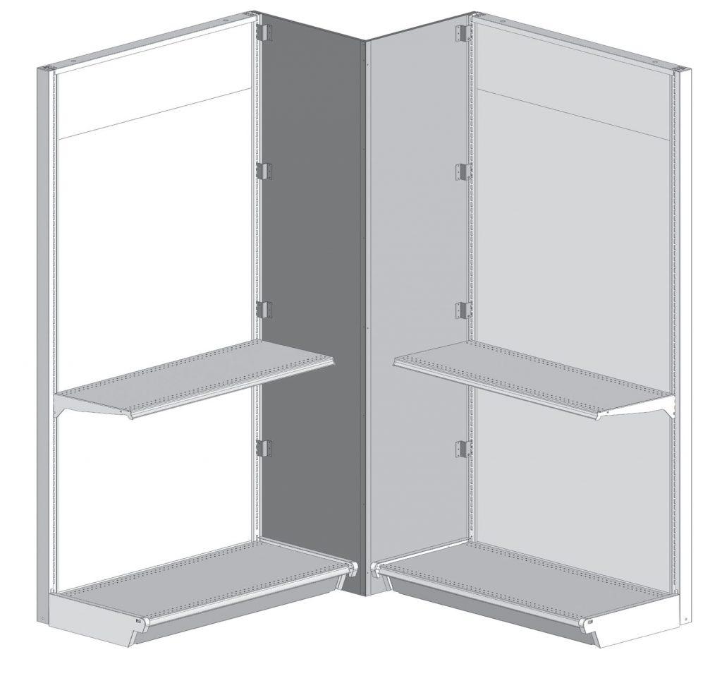 Box Corner Shelving