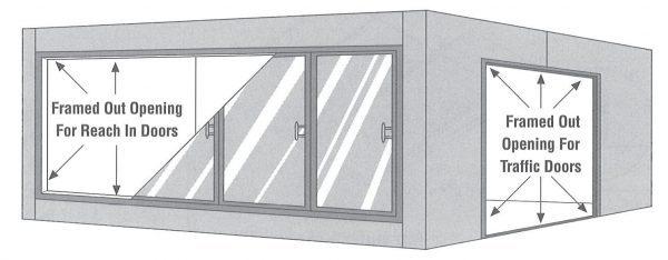 Cooler Framed Out Door Openings