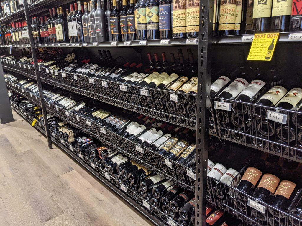 Liquor Store Open End Baskets